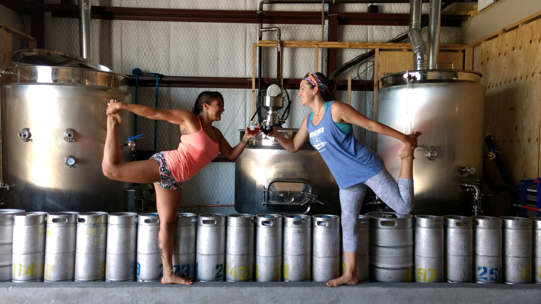 Beer Yoga pose