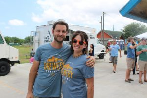 Jess and Cory at the First Corpus Christi Brewery Festival