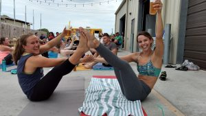 Lazy Beach Beer Yoga