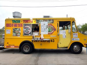 Taquitos mi tierra food truck in corpus christi at the Lazy Beach Brewery