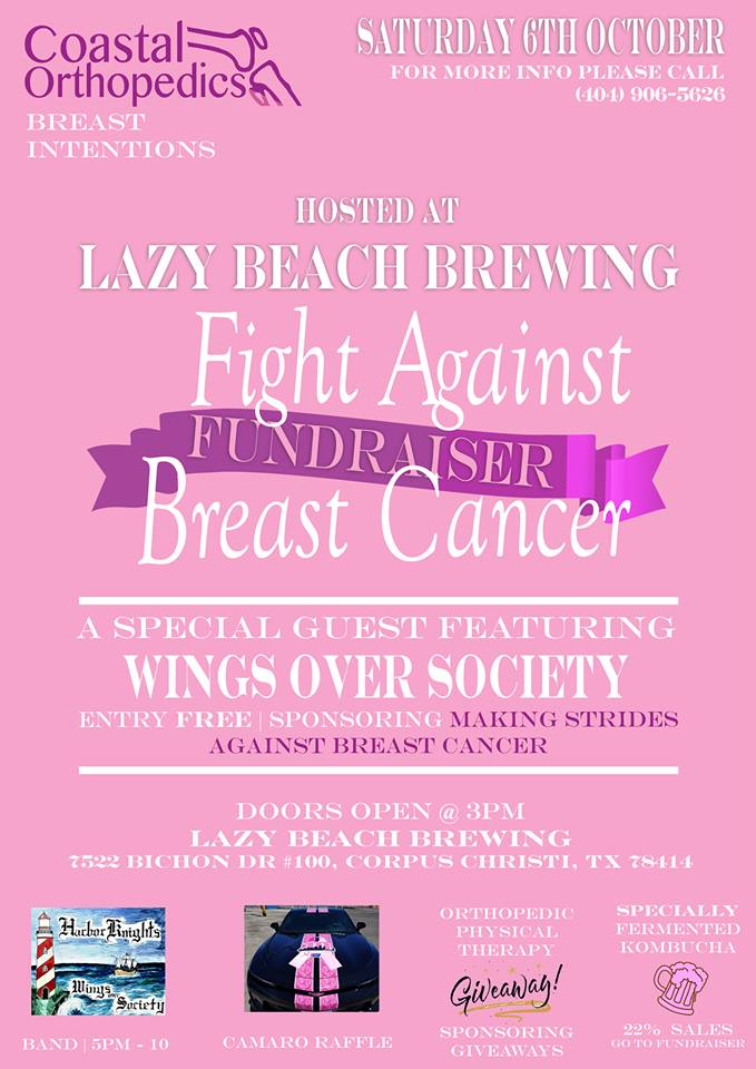 Fight Against Breast Cancer Fundraiser presented by Lazy Beach Brewing
