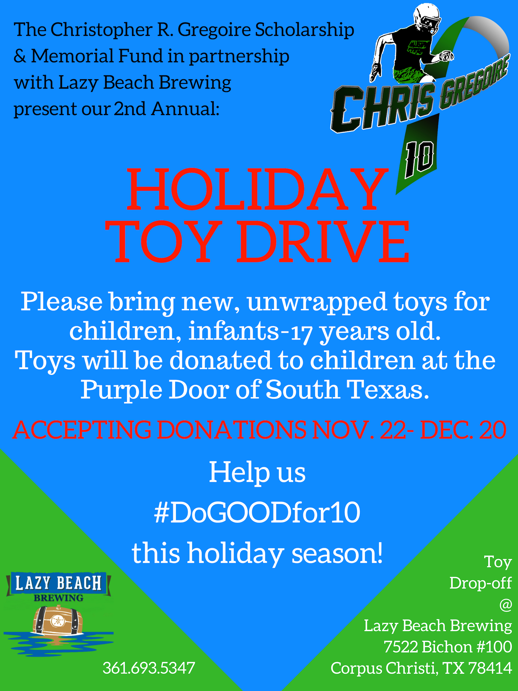 Toy Drive at Lazy Beach!