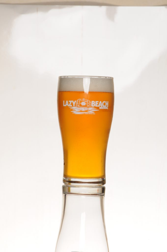 Lazy Beach Brewery Pint Glass with Light Beer