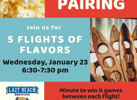Popcorn & Beer Pairing this Wednesday