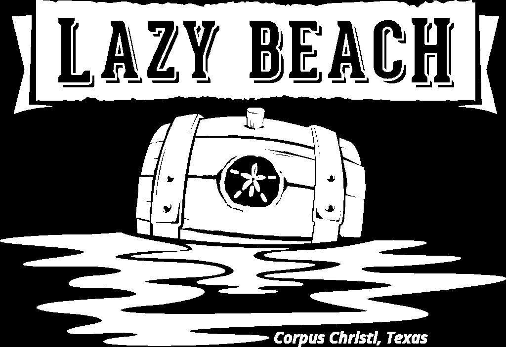 Lazy Beach Logo White