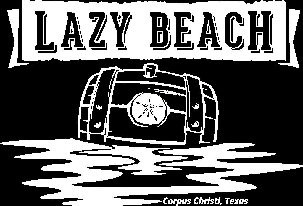 Lazy Beach Logo White Outline